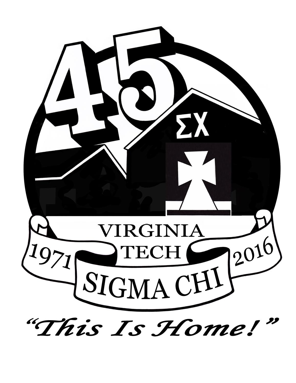 45th Anniversary Save The Date Sigma Chi At Virginia Tech Eta